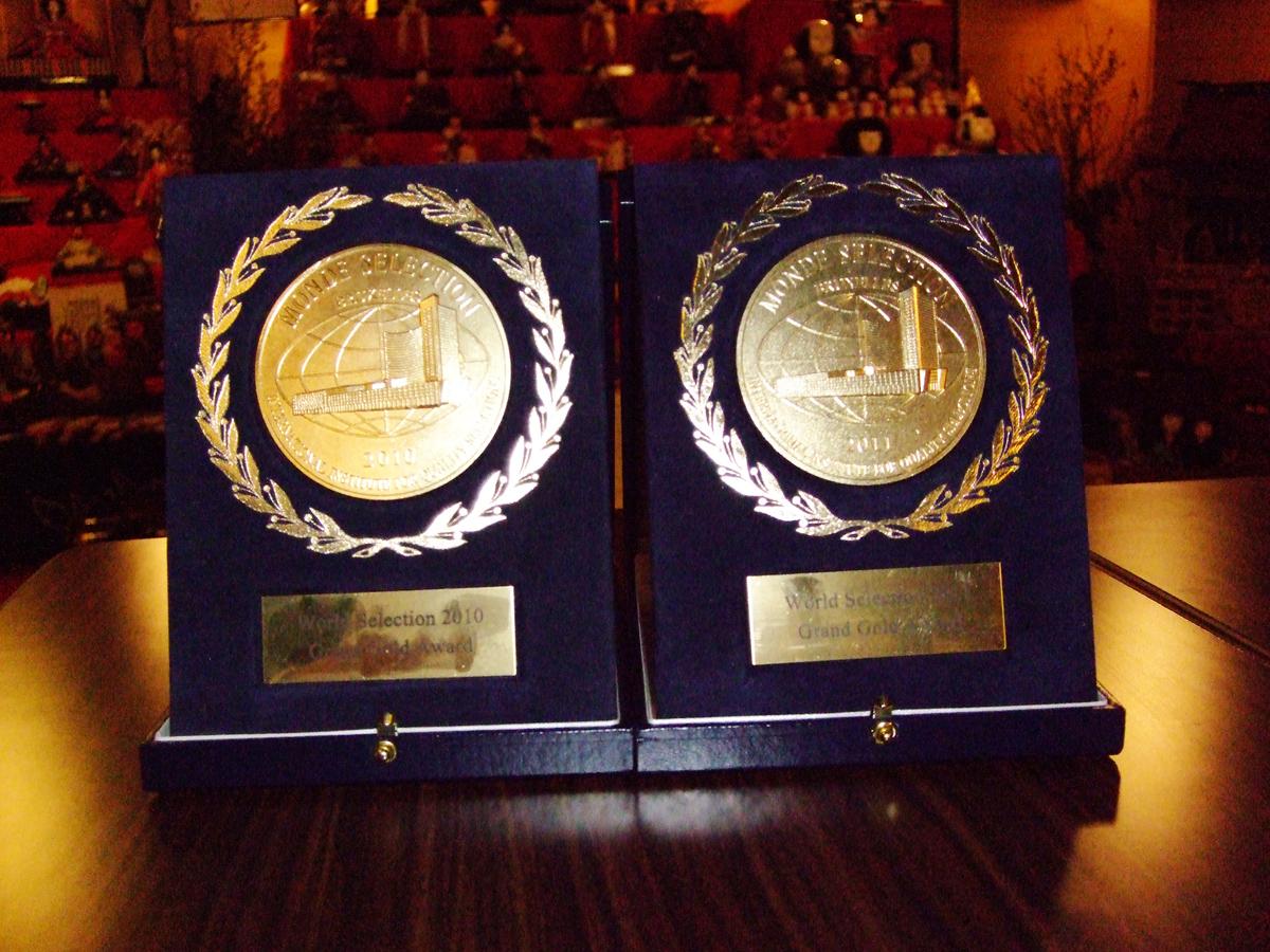 2010&2011Grandgoldmedals