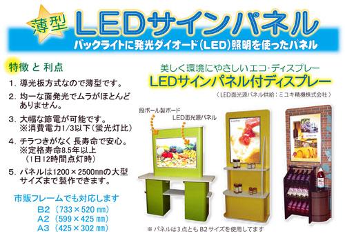 LEDサインパネル