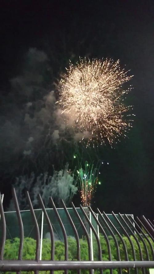 モンテディオ ホーム戦での打ち上げ花火