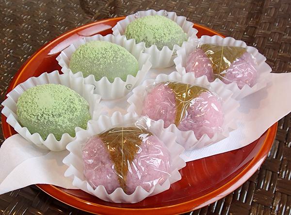 廣盛堂 桜餅、うぐいす餅